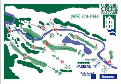 Cobourg Creek Golf Course Layout