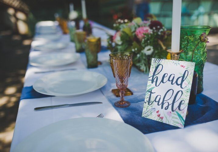 Wedding Head Table at The Mill